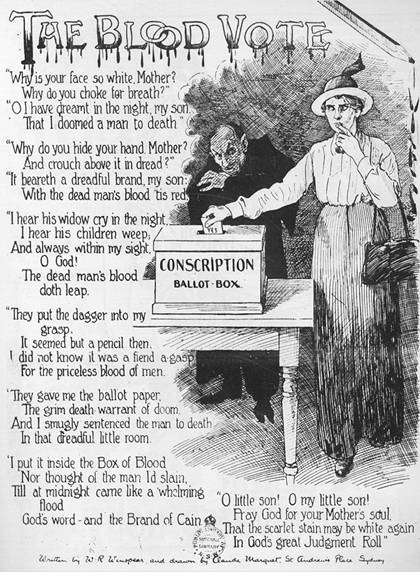 World War I conscription  plebiscite